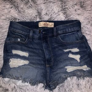 Hollister ripped high rise shorts